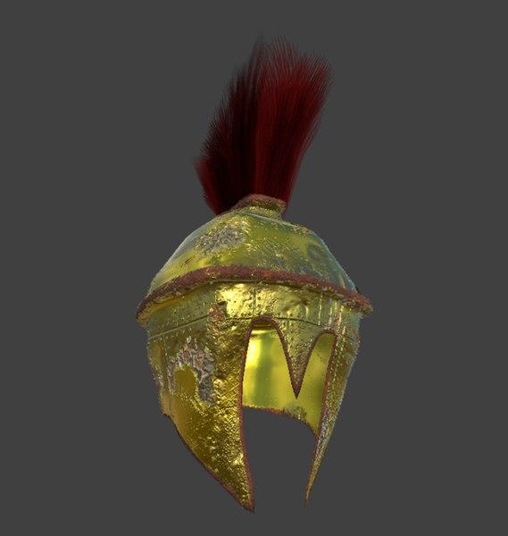 helm helmet spartan 3D model