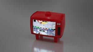 cute tv 3D model