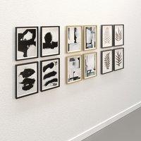 3D picture frames pack 4 model