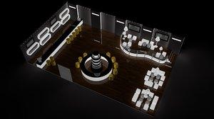 3D nightclub disco bar model
