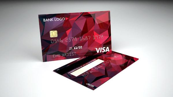 3D credit card 4 design model