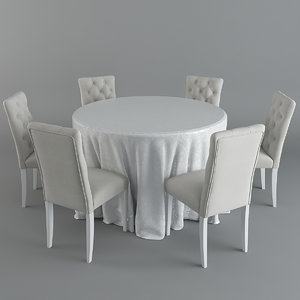3D brookline tufted table