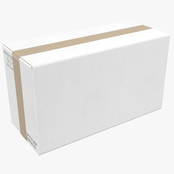 cardboard box white 3D model
