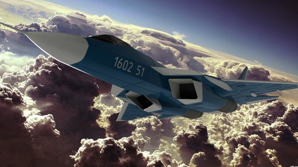 aviation 57 fighter sukhoi 3D model