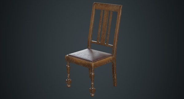 kitchen chair 1b 3D