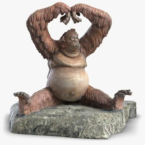 orangutan sculpture 3D model