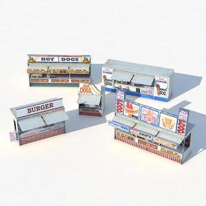 3D fast food shops