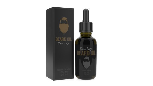 beard bottle oil 3D model