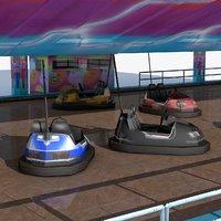 3D model bumper cars