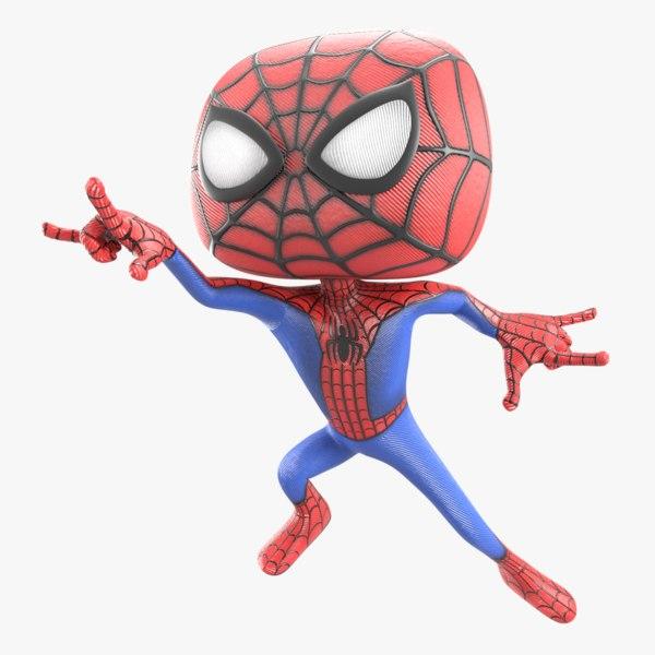 cartoon spider original 3D model