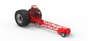3D tractor pulling chassis