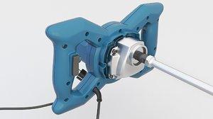 electric cement mixer 3D model