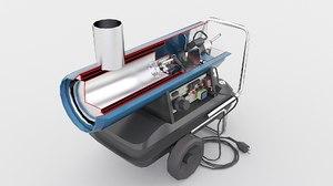 3D oil heater model