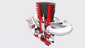 3D model engine rc nitro