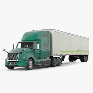 heavy duty truck trailer 3D model