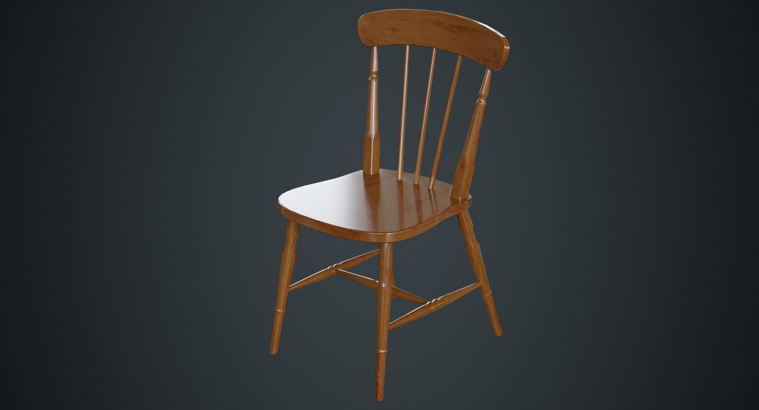 3D kitchen chair 2a model