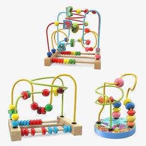 wooden maze toys 3D model