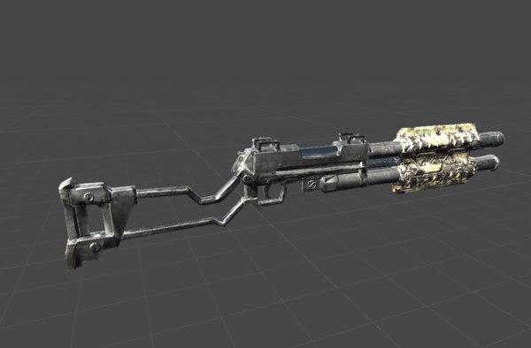 3D sci fi shotgun model