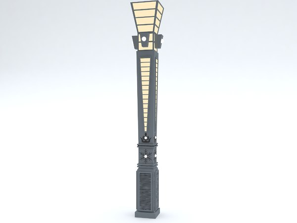 streetlamps architectural 3D