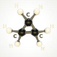 modeled cyclopropane molecular 3D model