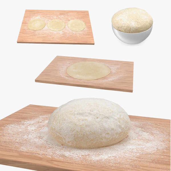 3D dough crust pizza