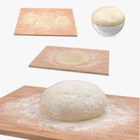 3D dough crust pizza