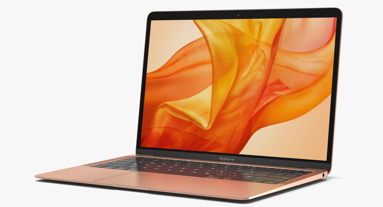 3D Model Macbook Air Gold