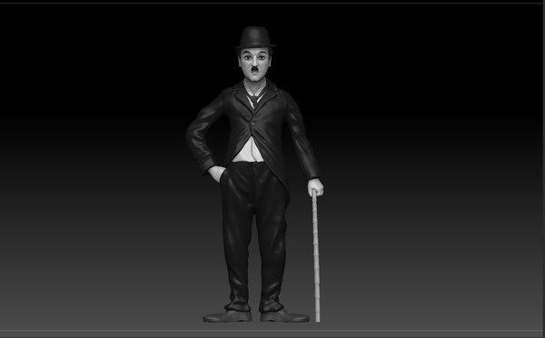 3D charlie chaplin