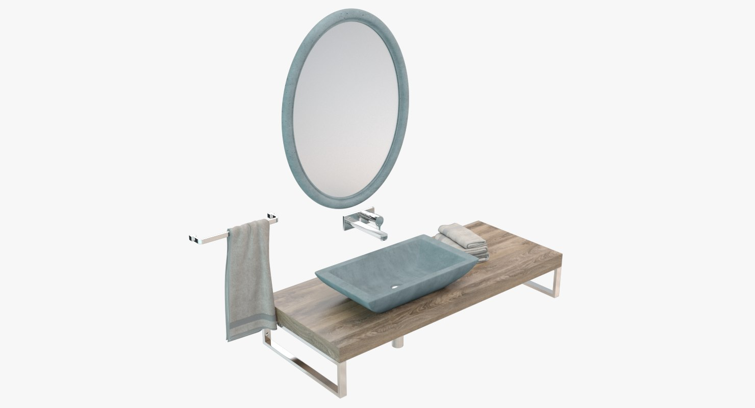 concrete washbasin sink 3D model