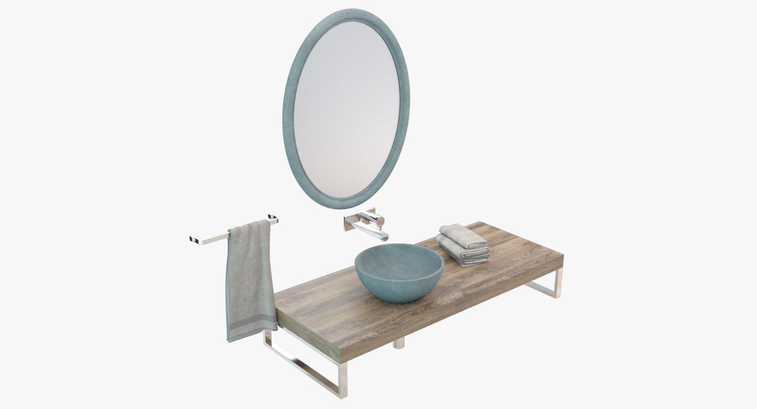 concrete washbasin model