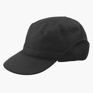 3D black field hat model