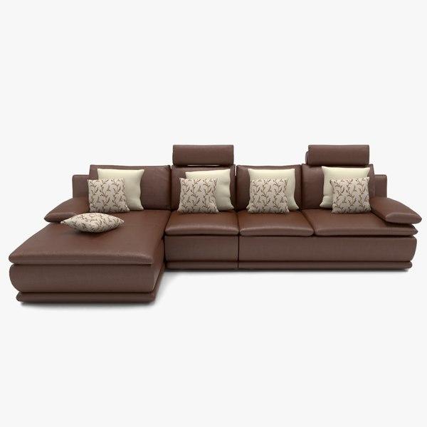3D model sofa l shape