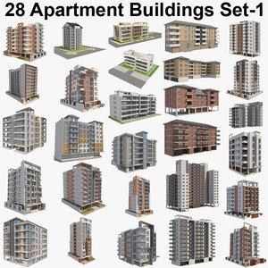 3D building apartment