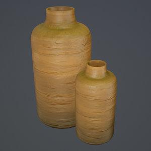 3D clay pot pbr ready