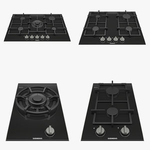 3D model siemens gas hob