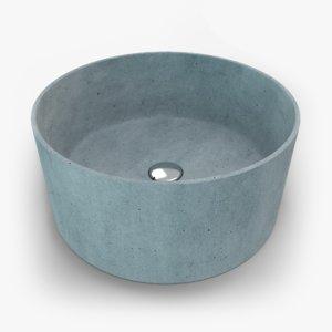 3D concrete sink