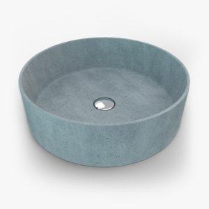 concrete sink 3D model