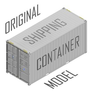 cad cube 20 shipping container 3D