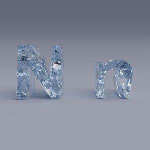 letter n 3D