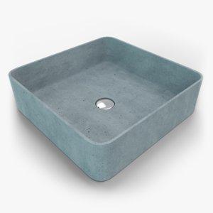 3D concrete sink model
