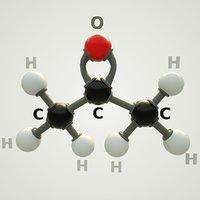 acetone molecular model