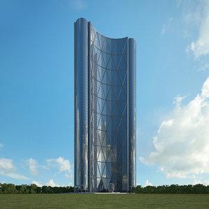 building skyscraper architecture 3D model