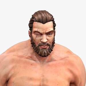 bearded man characters 3D model