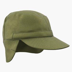 field cap earflaps olive 3D