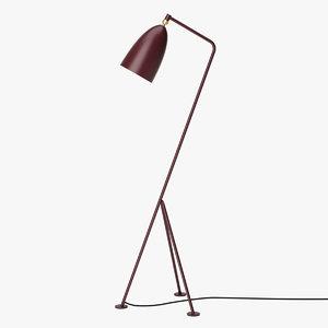 3D gubi grashoppa floor lamp model