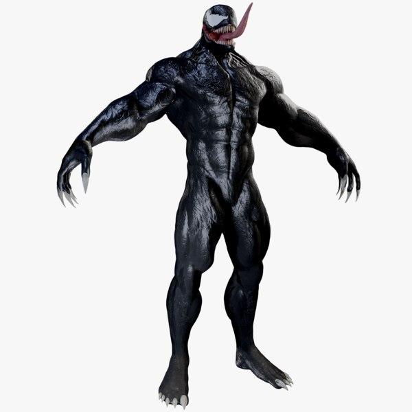 3D venom marvel character
