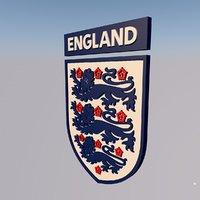 3D england national team football