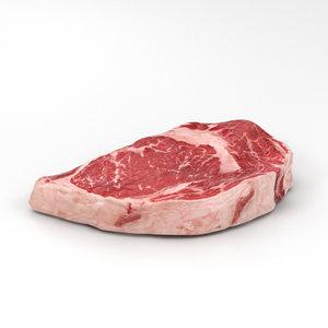 steak meat food 3D model