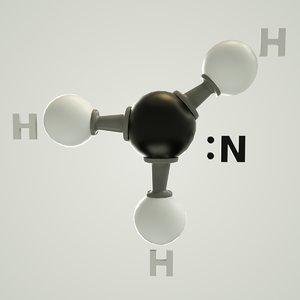 3D ammonia molecular model