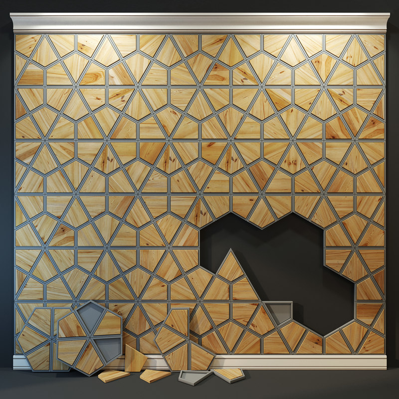 3D wooden panel